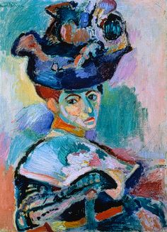 Henri Matisse- woman in a hat   Oh the colors!