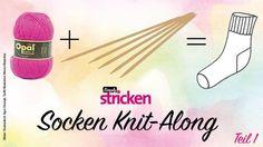 Socken Knit--Along Teil 1: Bündchen & Schaft