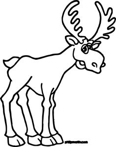 cool alaska moose coloring page