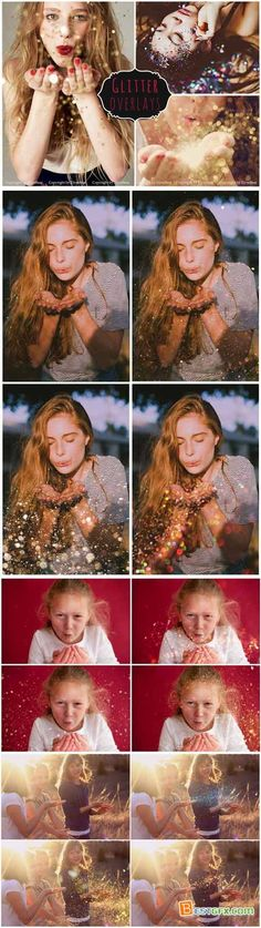 Creativemarket 50 Blowing Glitter Photoshop Overlay 319219