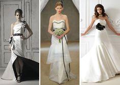 2013 Wedding Dress Trends Black & White