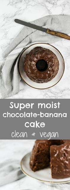 SUPER MOIST VEGAN CHOCOLATE-BANANA CAKE