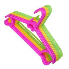 10pcs/Lot Non-Slip Plastic Hangers Kids Children Toddler Baby Clothes Coat Hangers Pet Clothing Clothes Rack Hangers