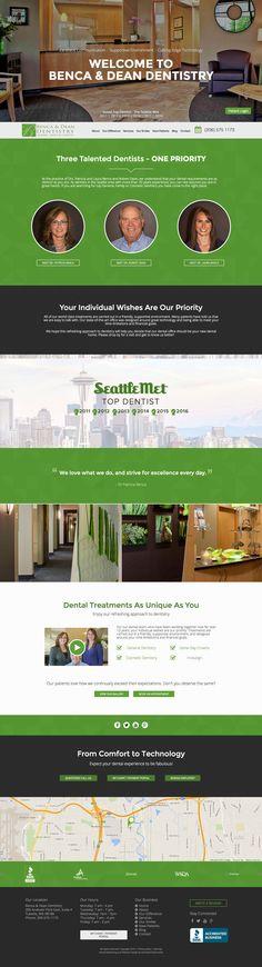 Benca & Dean Dentistry - Responsive Dental Website Case Study | Roadside Dental Website #design #responsive #website #dental