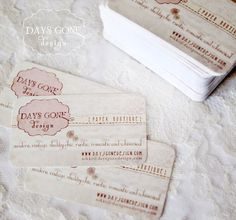 In love with these lace business cards! All of there prints are beautiful!