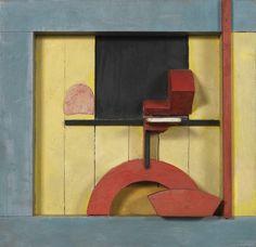 Merz 1925, 1. Relieve en cuadrado azul. Kurt Schwitters