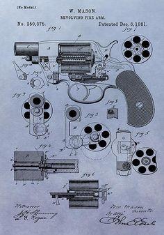 1881 Colt Revolver Patent