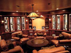 Elegant man cave design ideas with wine tasting room decor man caves Man Cave Designs, Man Cave Living Room, Man Room, Living Room Decor, Bar Design, House Design, Design Ideas, Zigarren Lounges, Best Man Caves