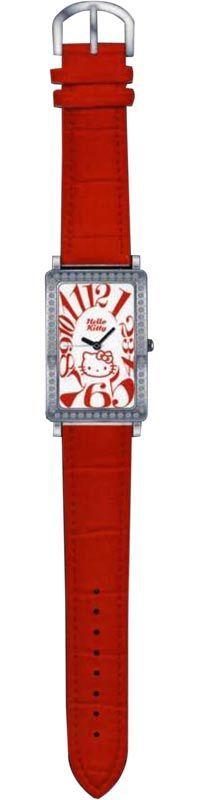 Reloj Red Leather Hello Kitty Diamond Collection Sanrio - http://regalosoutletonline.com/regalos-originales/hello-kitty/reloj-red-leather-hello-kitty-diamond-collection-sanrio
