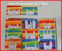 Castles Topic, Chateau Moyen Age, Castle Crafts, Renaissance Time, Kindergarten Art Projects, Château Fort, Art Lessons Elementary, Art Education Lessons, Expressive Art