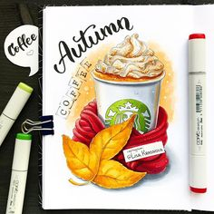 Copic Marker Art, Copic Art, Sketch Markers, Copic Markers, Cake Drawing, Food Drawing, Food Sketch, Food Painting, Alcohol Markers