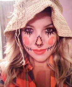 Quick scarecrow costume (cute, cheap, and easy to do)