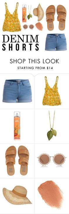 """Marigold's Peach Bellini"" by fishblowkisses ❤ liked on Polyvore featuring Pieces, Diane Von Furstenberg, Billabong, House of Holland, NARS Cosmetics, jeanshorts, denimshorts and cutoffs"