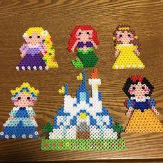 Disney Princess perler beads by hyanchiru
