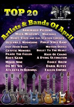 April's Top 20 Artists & Bands (WOW!!! Thank you Doug!!!) #WildDawgsRadio facebook.com/WildDawgsRadio/ @TheRawkDawgShow @WildDawgsRadio Radio Stations, The Dj, Gas Station, Memoirs, The Fool, Bands, Artists, Facebook, Top