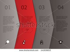 Great Brochure Design Examples circle with arrows | Creative vector template - four arrows in different colors with space ...