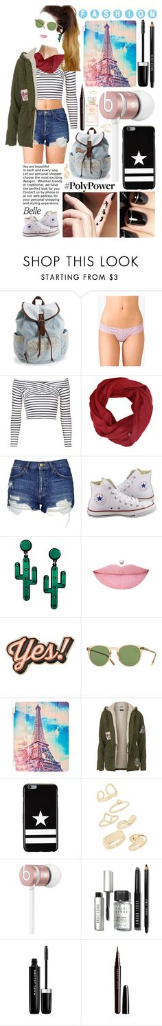 """""""Belle"""" by leonormoral ❤ liked on Polyvore featuring Aéropostale, Forever 21, Topshop, Converse, Anya Hindmarch, Oliver Peoples, Givenchy, Beats by Dr. Dre, Bobbi Brown Cosmetics and Disney"""