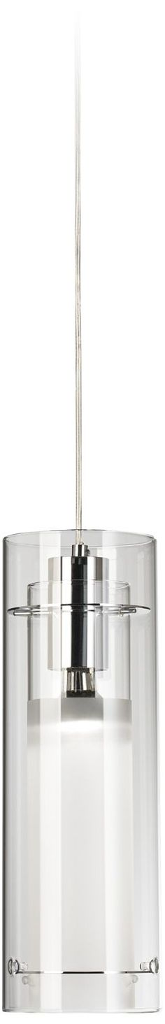 Cylindrical Clear 5 1/2-Inch-W Pendant Chandelier - Euro Style Lighting