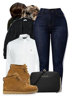 """""""Untitled #582"""" by b-elkstone ❤ liked on Polyvore featuring Abercrombie & Fitch, Ralph Lauren, UGG Australia and MICHAEL Michael Kors"""