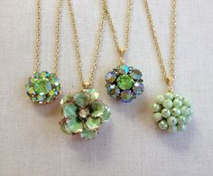 Vintage earring necklaces necklace by ChicMaddiesBoutique on Etsy