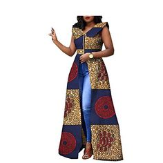 Saw this lovely Ankara outfit and loved it. It goes really well with a pair of jeans and some great jewelry African Fashion Ankara, Latest African Fashion Dresses, African Inspired Fashion, African Dresses For Women, African Print Dresses, African Print Fashion, Africa Fashion, African Attire, African Women