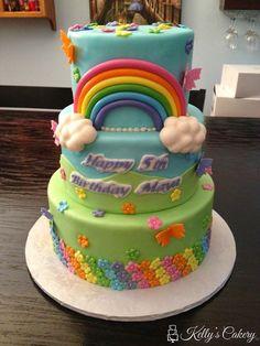 Rainbow my little pony cake - www.KellysCakery.com