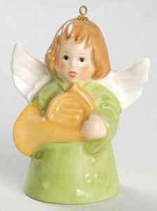 angel bells | Goebel Angel Bell Ornament Green Angel French Horn 1982 | eBay