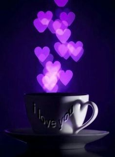 Purple,hearts,love