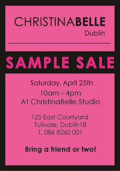 April 25th at ChristinaBelle Studio!