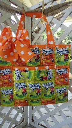 Boutique Green and Orange Polka Dot Juice Pouch by KarensKidz
