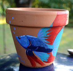 Fancy 6 inch flower pot acrylic