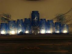 Glass jar menorah