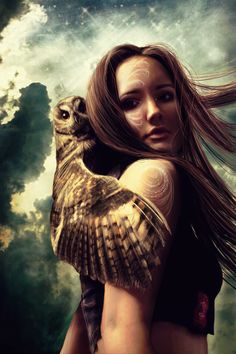 Blodeuwedd _ Celtic. The woman who was made from flowers to be a bride to Llew. She fell in love with another man and as punishment was changed to an owl.