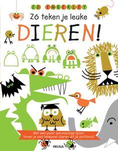Leuk cadeautje!!Ed Emberley is een bekende tekenaar die gelooft dat iedereen kan tekenen. Jij dus ook! Met enkele lijntjes, krulletjes of krabbels tovert hij de leukste dieren tevoorschijn. Pak dus snel je potlood en ga aan de slag. Volg de stap-voor-staptekeningen en voordat je het weet, heb je een varken, een aap, een vogel, een haai, een hond en nog veel meer dieren getekend.
