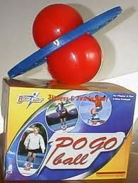 A pogo ball!! I about cracked my head open trying to jump on one of these things. Scariest part was getting on it!