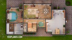 ► Descargar Plano de casa de 3 Dormitorios y 2 Baños Completos ☑️