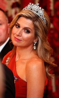 Queen Maxima's gorgeous diamond tiara stole the show. <br><br>Photo: Getty Images