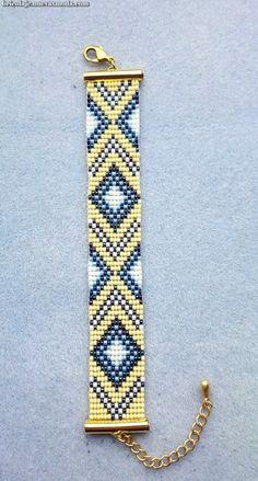 off loom beading techniques Loom Bracelet Patterns, Bead Loom Bracelets, Bracelet Crafts, Woven Bracelets, Beaded Jewelry Patterns, Beading Patterns, Bead Loom Designs, Motifs Perler, Bead Crochet Patterns