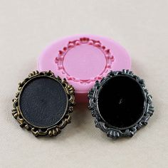 Cabochon Frame Setting Flexible Silicone Mold/Mould for Crafts, Jewelry, Scrapbooking, (resin, pmc, polymer clay) (284)