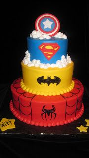 Super Hero Cake...my birthday is coming up!