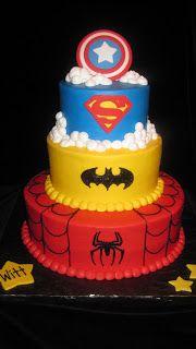 Super Hero Cake...my birthday is coming up!