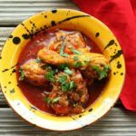 Angolan Moamba De Galinha (Chicken in Moamba Sauce) Recipe Sauce Recipes, Chicken Recipes, Red Palm Oil, Aromatic Herbs, Chicken Tenders, Thai Red Curry, Spices, Vegetables, Cooking