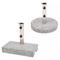 vidaXL Parasol Base Granite 20 kg Outdoor Garden Umbrella Stand Holder Support