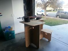 My one sheet plywood shooting bench
