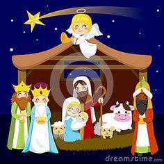 Escena de la natividad de la Navidad