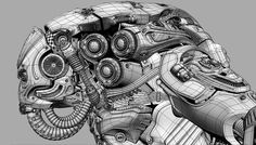 rouhollah,toghyani,volcatron,zbrush,softimage,hardsurface,modeling,sculpting,robot,mech,wireframe   ひげそりだなぁ