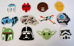 Star wars cupcake fondant toppers