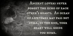 Ancient lovers never forget the echo of each other's hearts | Anonymous ART of Revolution