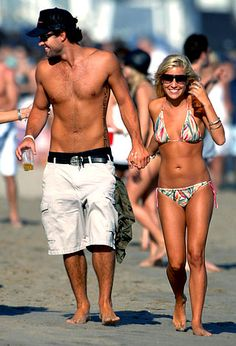 Kristin with ex-boyfriend Brody Jenner in Malibu.