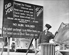 Reminder of proper military vehicle maintenance, 1942